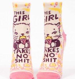 Blue Q Blue Q Women's Ankle Socks Girl Takes No Shit