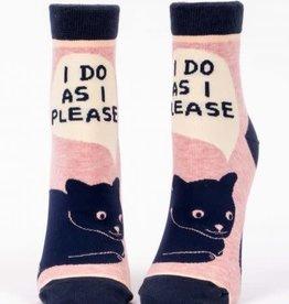 Blue Q Blue Q Women's Ankle Socks I Do As I Please