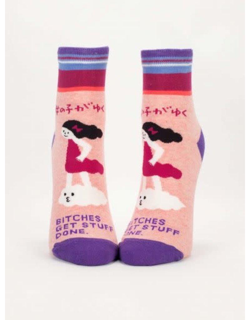 Blue Q Blue Q Women's Ankle Socks Bitches Get Stuff Done