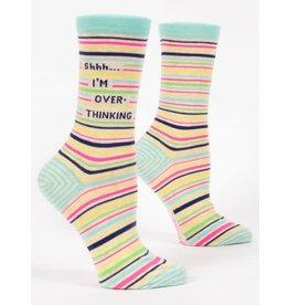 Blue Q Blue Q Women's Crew Socks Shh...I'm Overthinking
