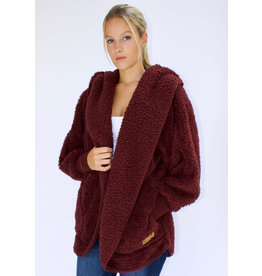 Nordic Beach Nordic Beach Cozy Cardigan Chocolate Cherry