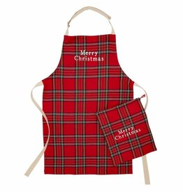 Holiday Apron in a Bag Red Tartan