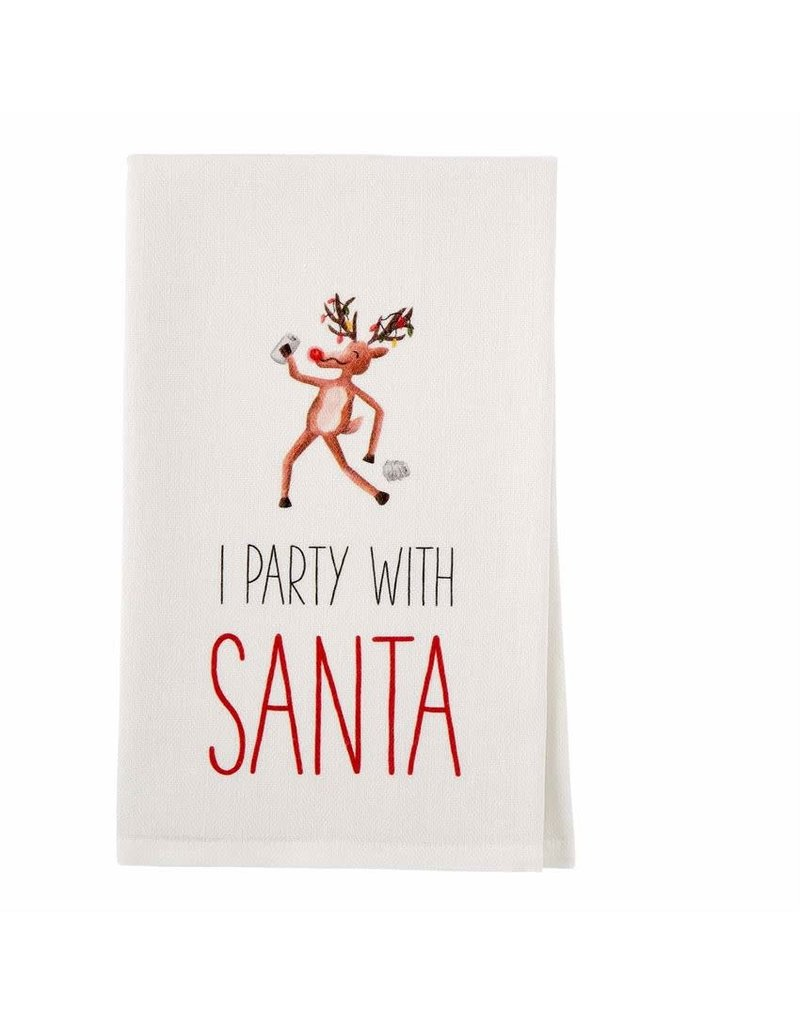Mud Pie Holiday Drinking Towel Party With