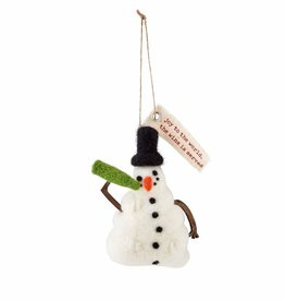 Holiday Drinking Ornament Snowman