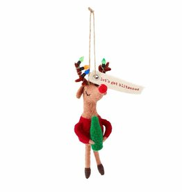 Holiday Drinking Ornament Reindeer