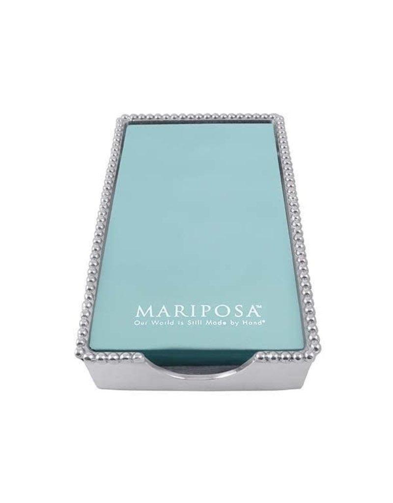 Mariposa Beaded Guest Towel Box - EMPTY