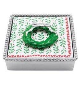 Napkin Box - Green Wreath