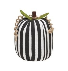 Collins Painting & Desgin Fabric Pumpkin BW Stripe Large