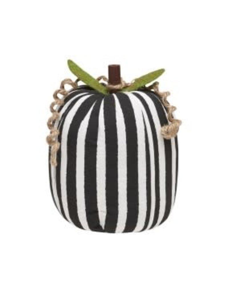 Fabric Pumpkin BW Stripe Large