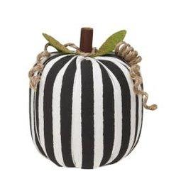 Collins Painting & Desgin Fabric Pumpkin BW Stripe Small