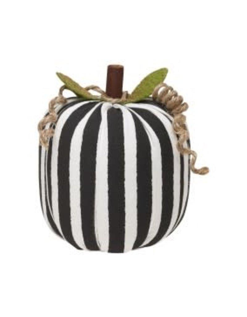 Fabric Pumpkin BW Stripe Small