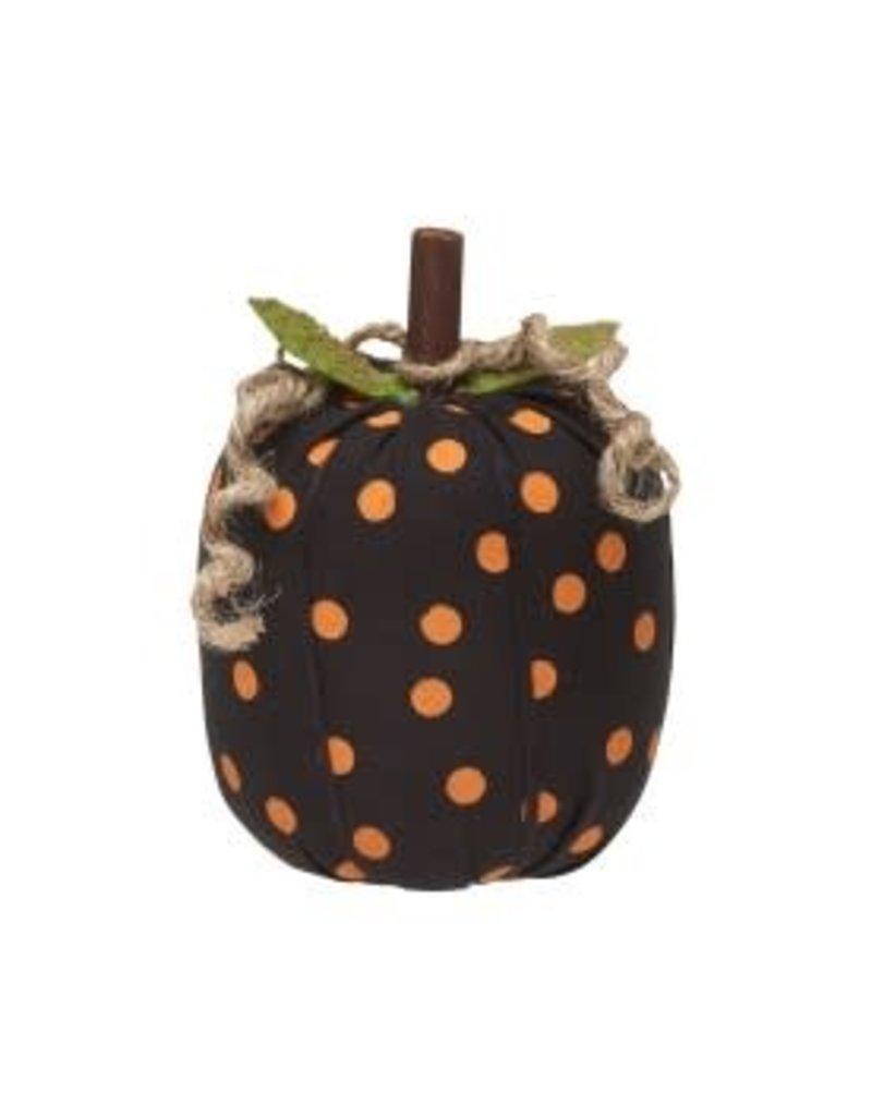Fabric Pumpkin Orange Dot Small