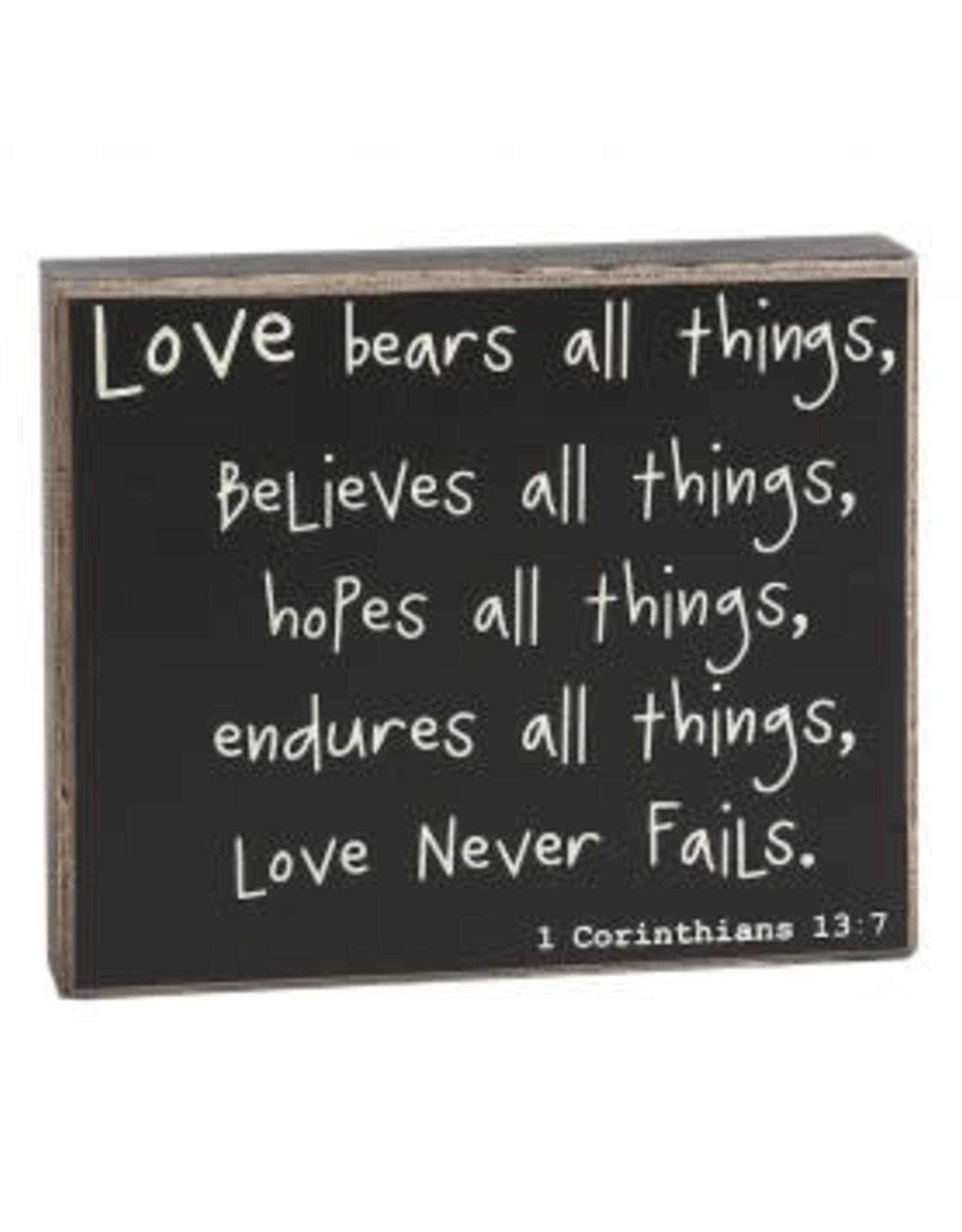 Collins Painting & Desgin Box Sign Love Never Fails