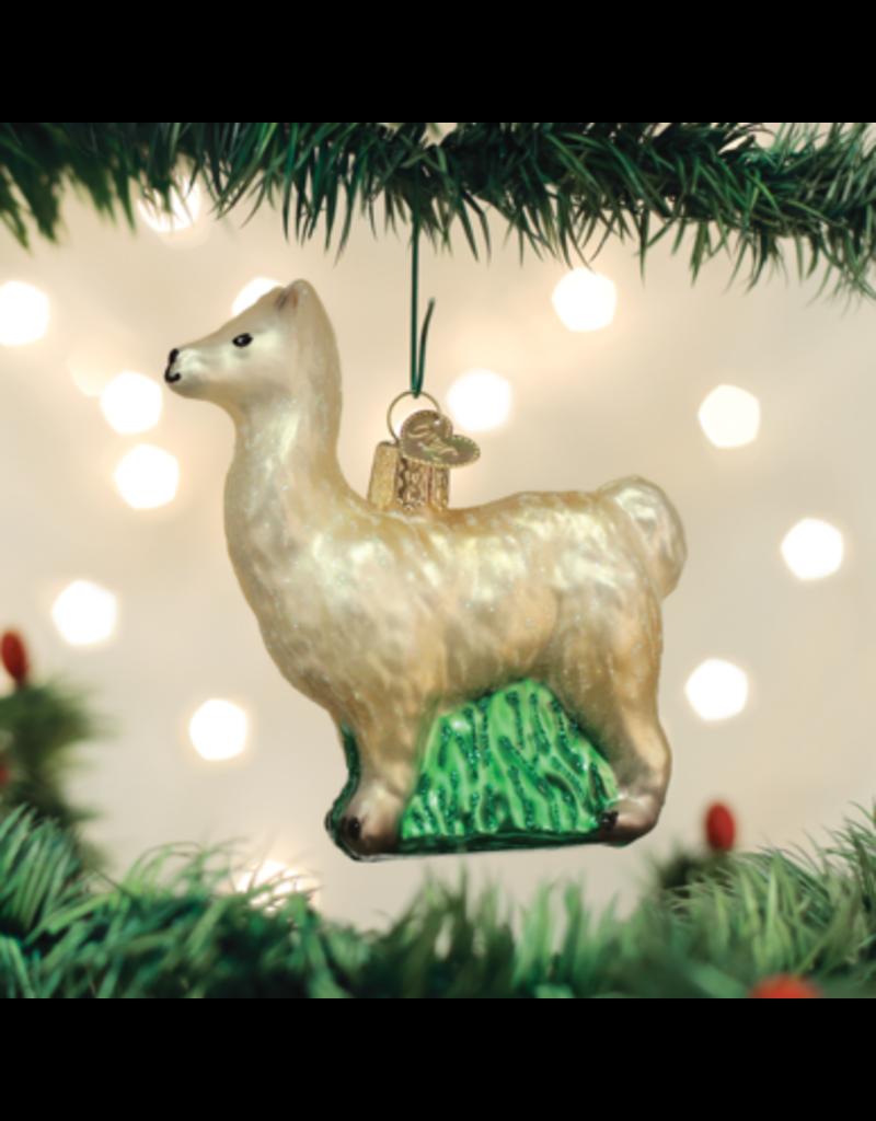 Old World Christmas Ornament Llama