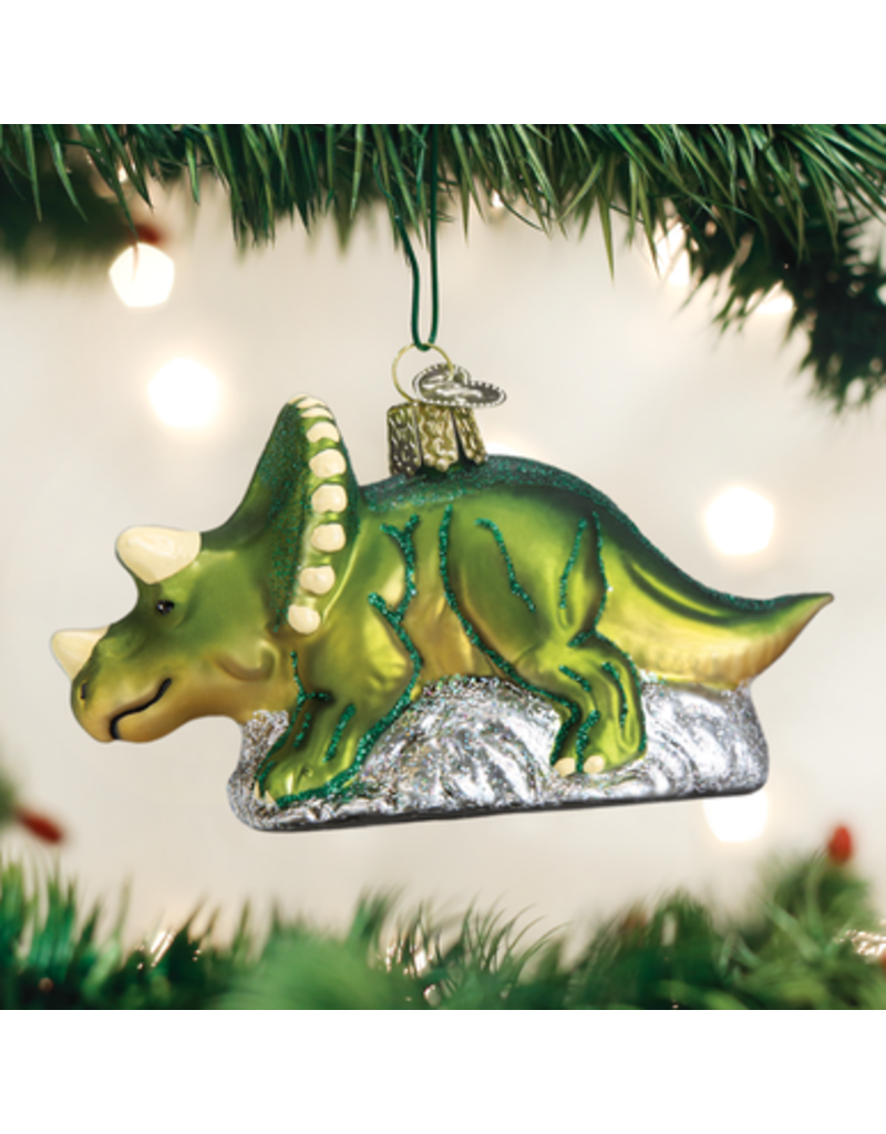 Old World Christmas Ornament Triceratops