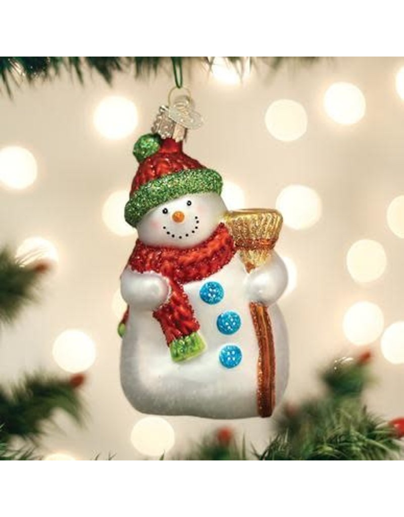 Old World Christmas Ornament Snowman with Broom