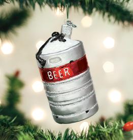 Old World Christmas Ornament Aluminum Beer Keg