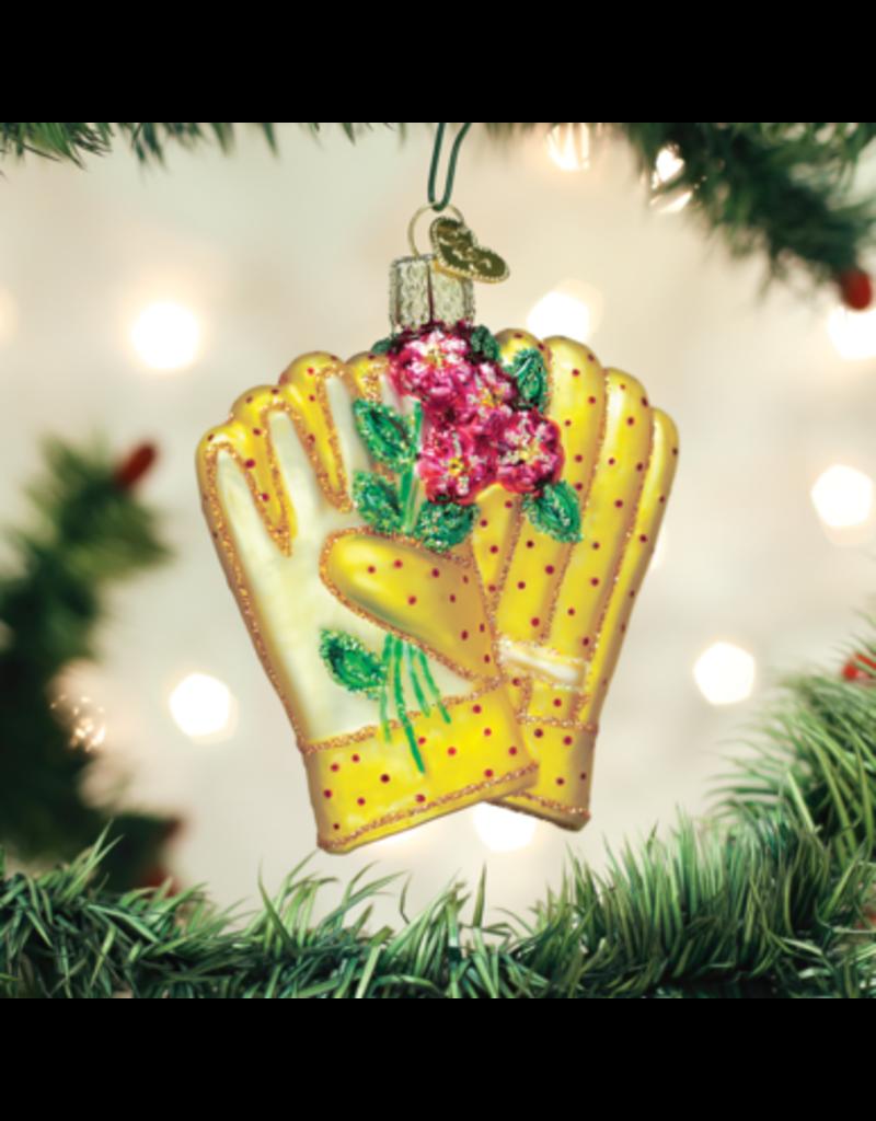 Old World Christmas Ornament Gardening Gloves