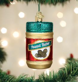 Old World Christmas Ornament Jar of Peanut Butter