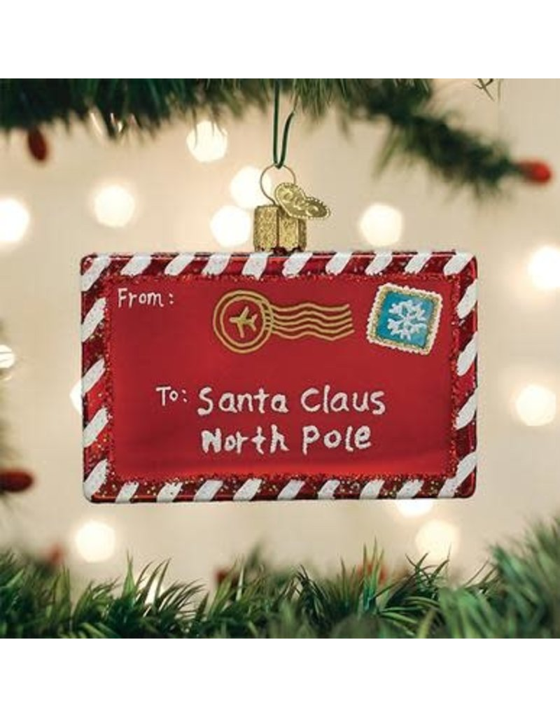 Old World Christmas Ornament Letter to Santa