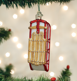 Old World Christmas Ornament Sled