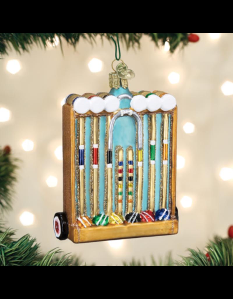 Old World Christmas Ornament Croquet Set