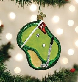 Old World Christmas Ornament Putting Green