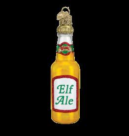 Old World Christmas Ornament Beer Bottle Elf Ale