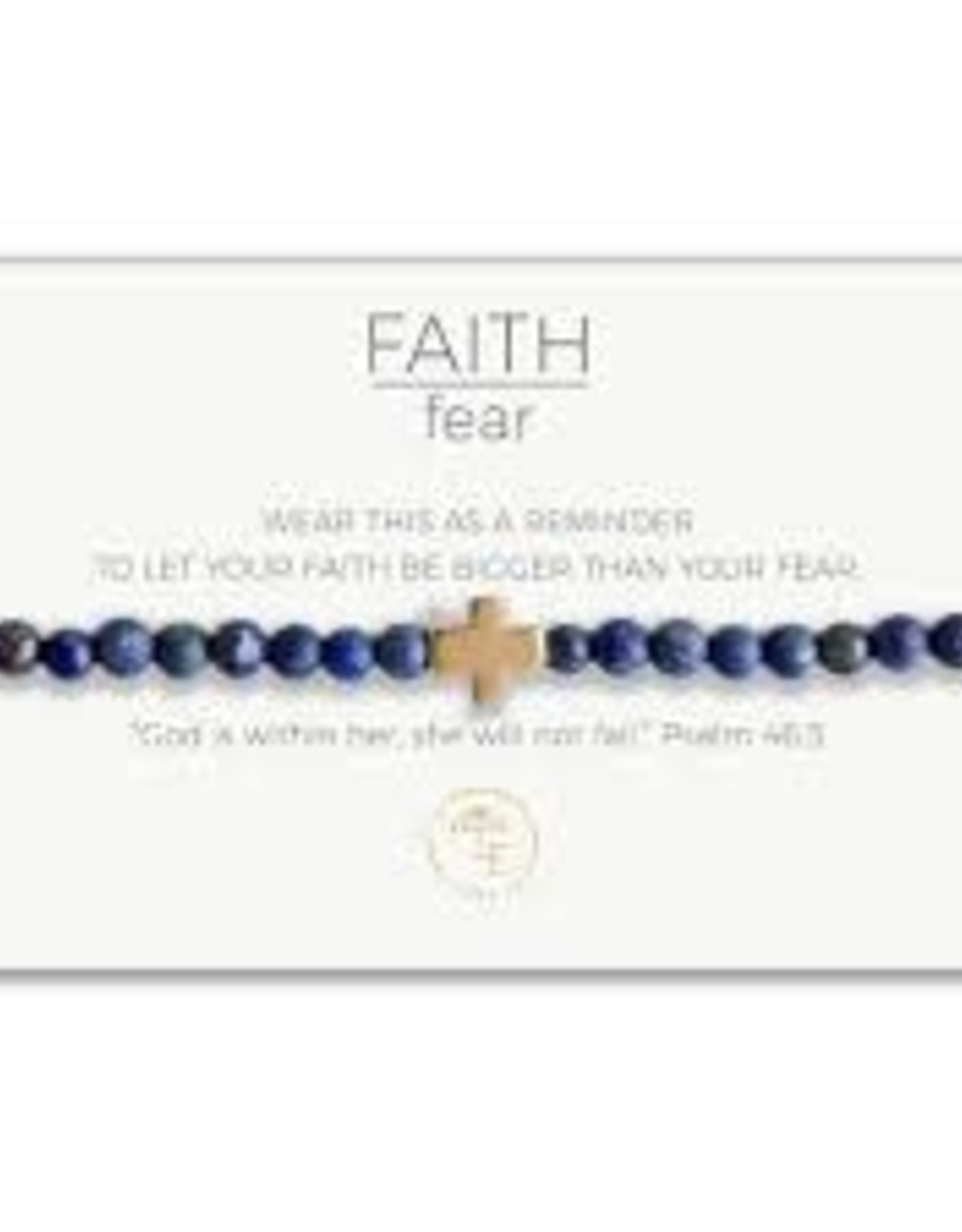 Lenny & Eva Faith Over Fear Stretch Bracelet Lapis Luzuli