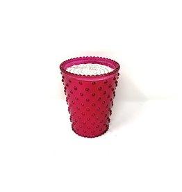 Sympatico Hobnail Candle Cranberry