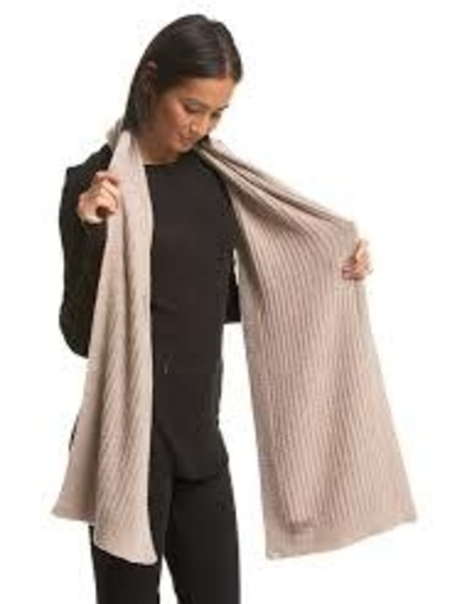 Barefoot Dreams Barefoot Dreams Cozychic Lite Heathered Ribbed Scarf Taupe