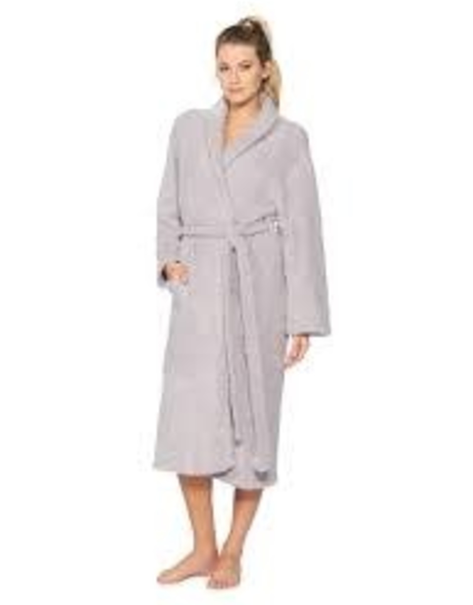 Barefoot Dreams Barefoot Dreams Cozychic Adult Robe Dove Gray Size 2