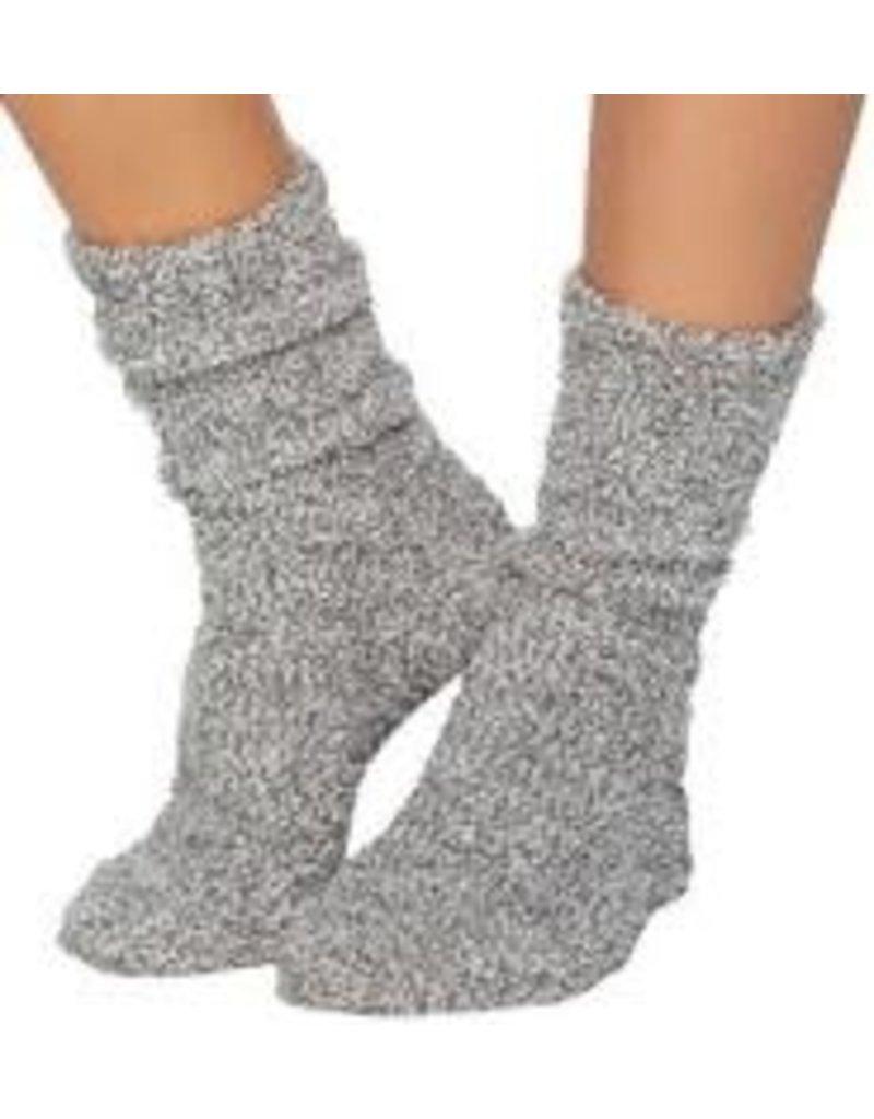 Barefoot Dreams Barefoot Dreams Cozychic Women's Heathered Socks Graphite/White