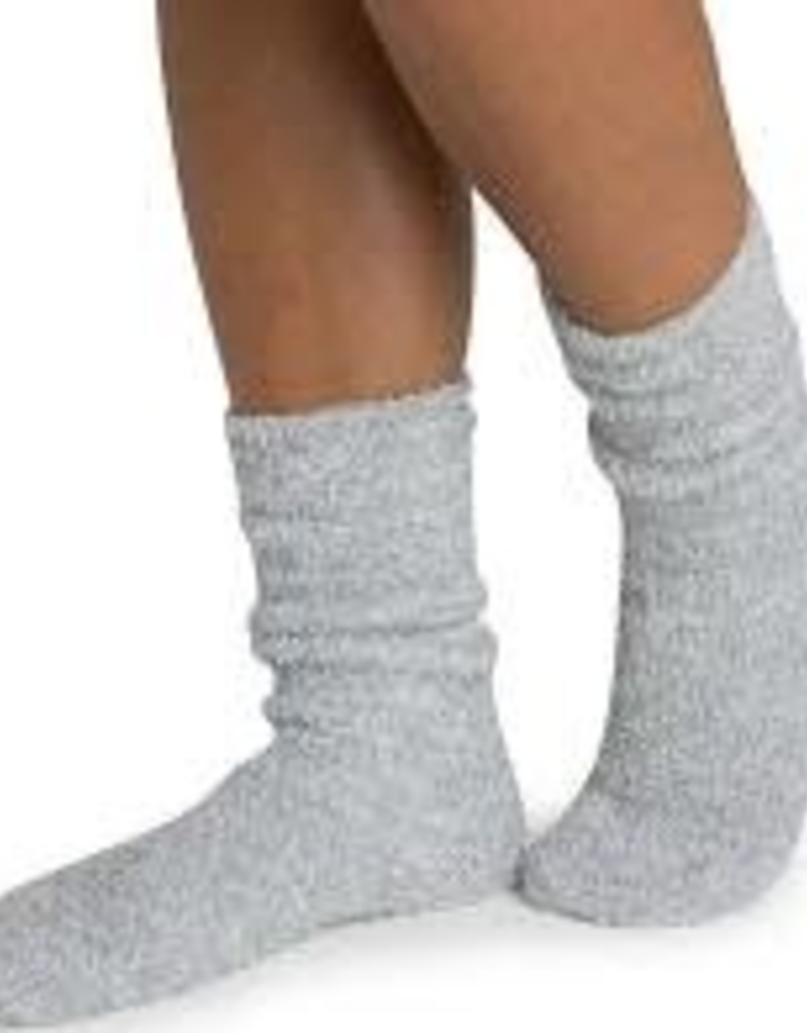 Barefoot Dreams Barefoot Dreams Cozychic Women's Heathered Socks Blue Water/White