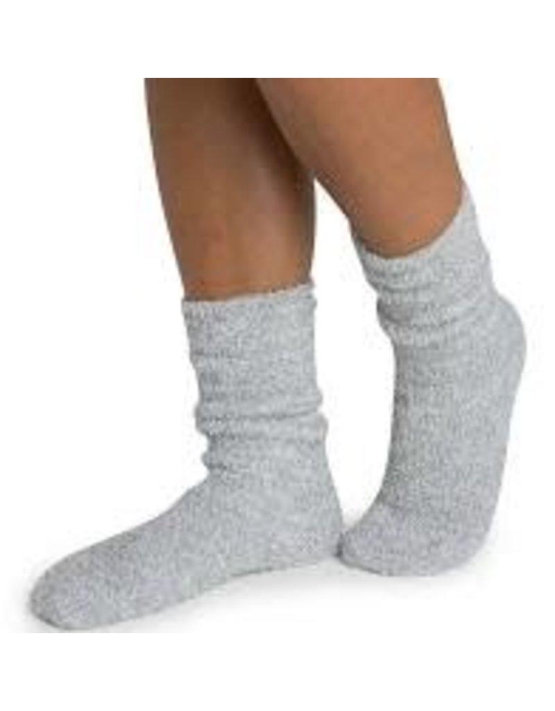 Barefoot Dreams Barefoot Dreams Cozychic Women's Heathered Socks Blue Water/White