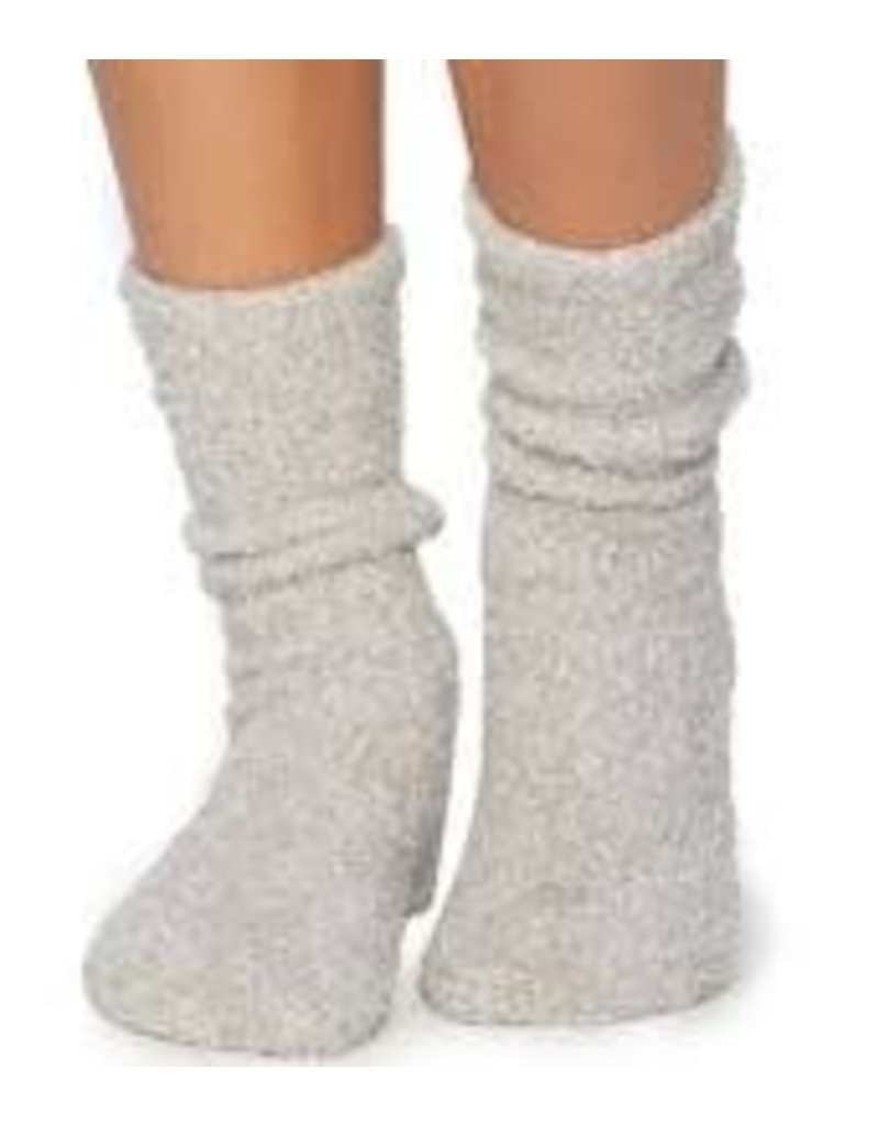 Barefoot Dreams Barefoot Dreams Cozychic Women's Heathered Socks Oyster/White