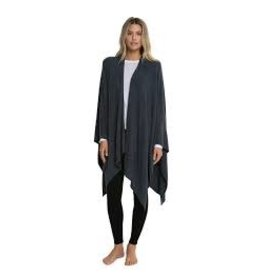 Barefoot Dreams Barefoot Dreams Cozy Chic light Heathered Weekend Wrap Black