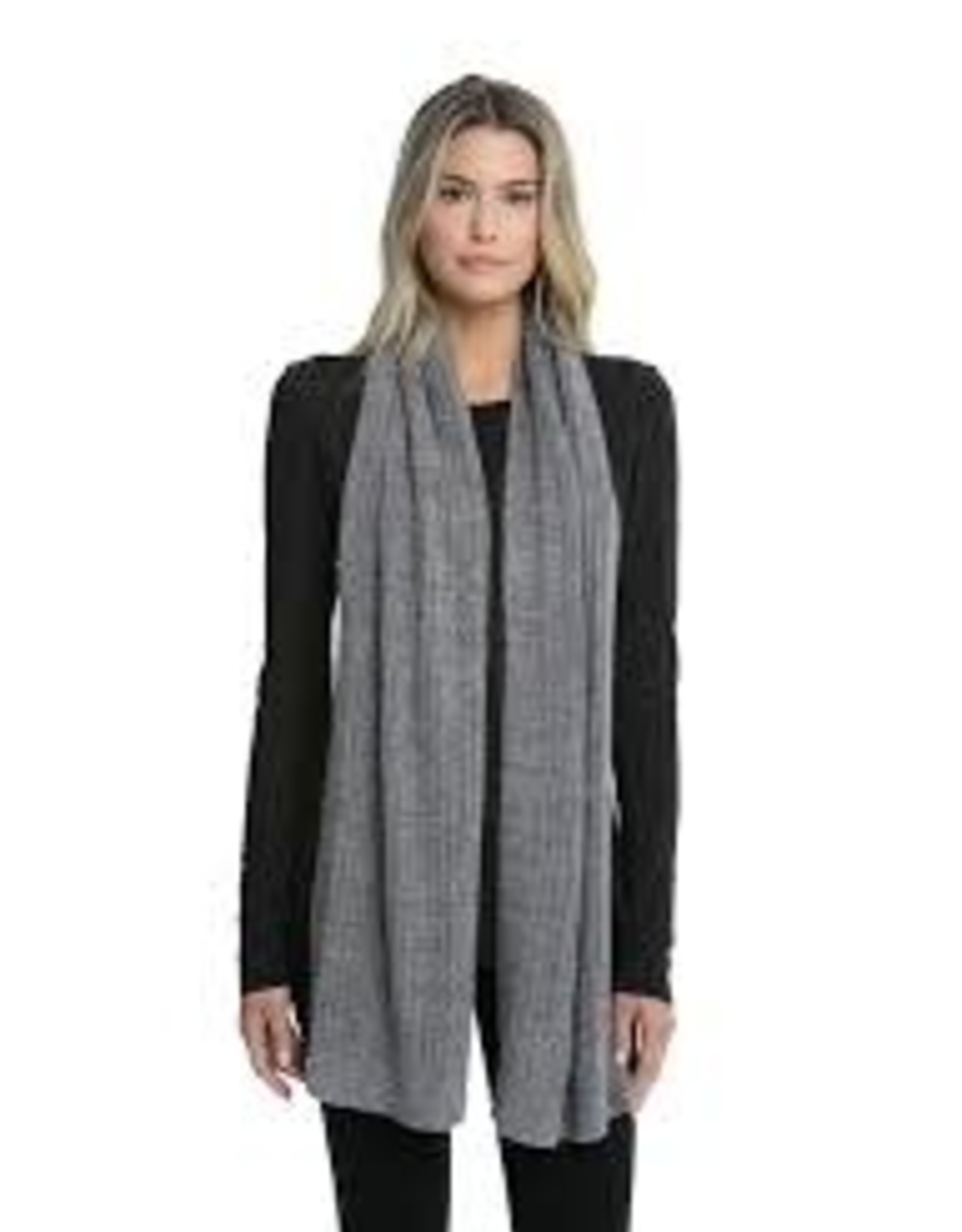 Barefoot Dreams Barefoot Dreams Cozychic Lite Heathered Ribbed Scarf Graphite