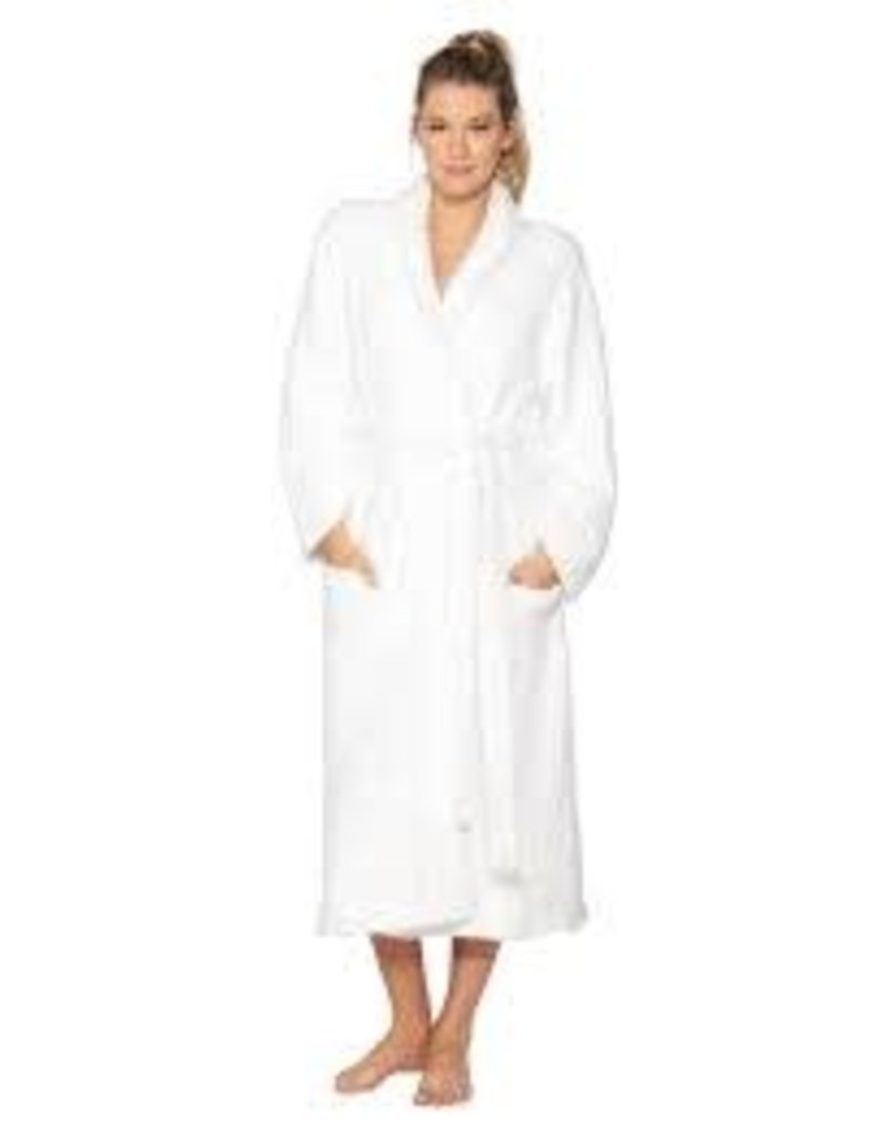 Barefoot Dreams Cozychic Adult Robe White Size 2
