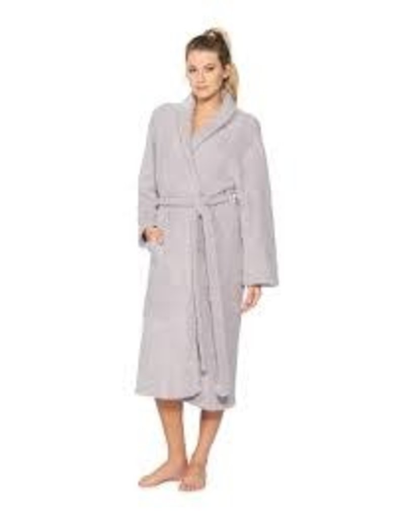 Barefoot Dreams Barefoot Dreams Cozychic Adult Robe Dove Gray Size 3