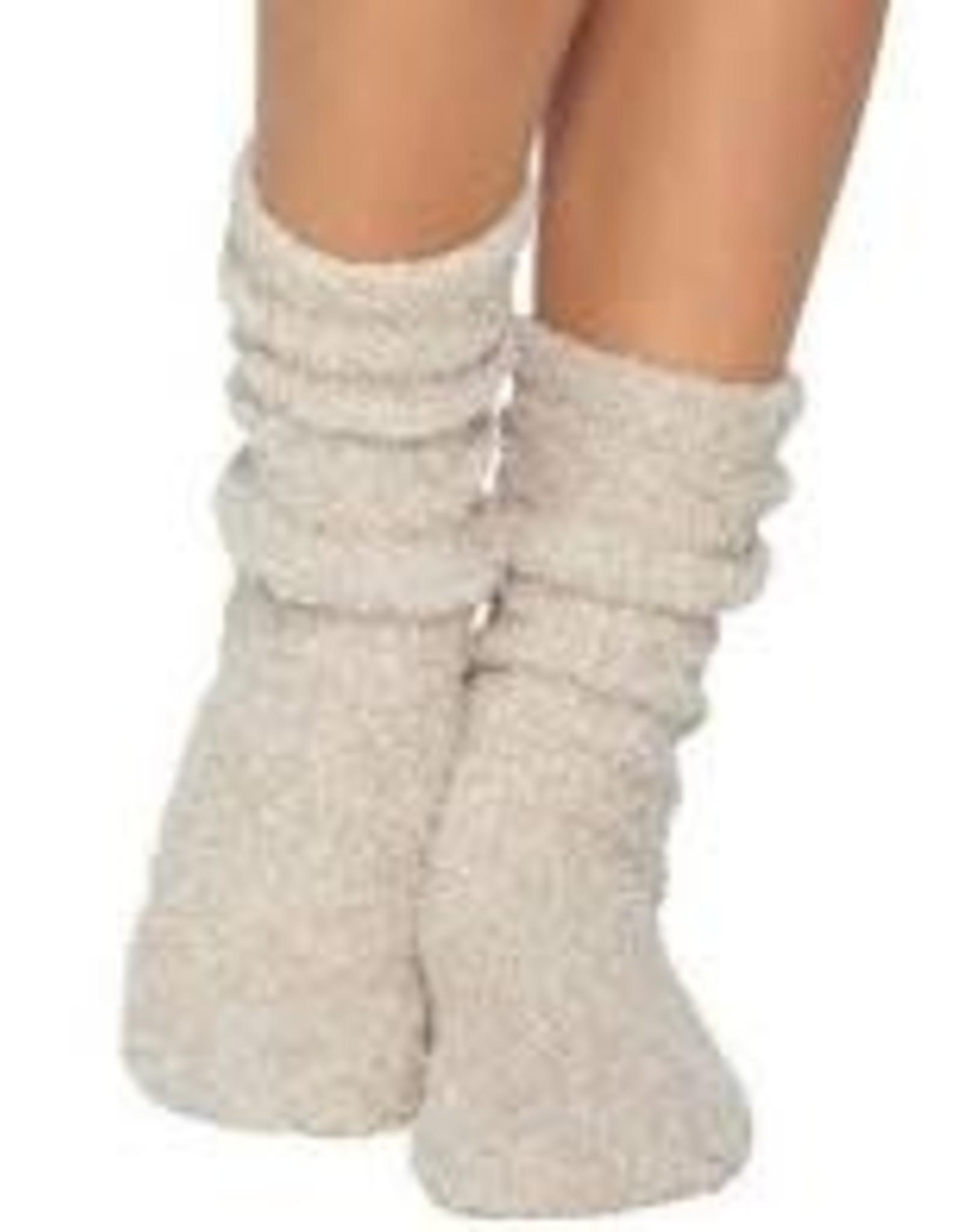 Barefoot Dreams Barefoot Dreams Cozychic Women's Heathered Socks Stone/White