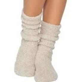 Barefoot Dreams Barefoot Dreams Cozychic Women's Heathered Socks Stone/White