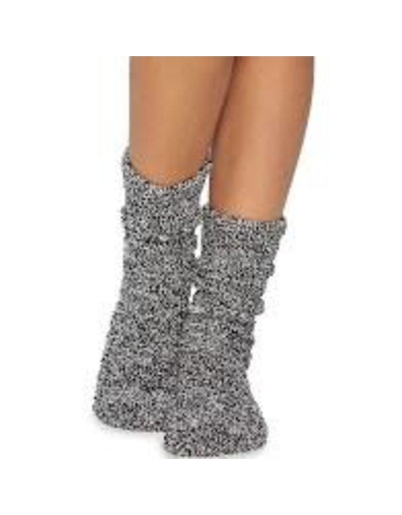 Barefoot Dreams Barefoot Dreams Cozychic Women's Heathered Socks Black/White