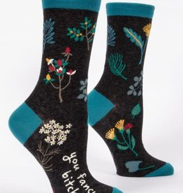 Blue Q SS Blue Q Women's Crew Socks (More!) You Fancy Bitch