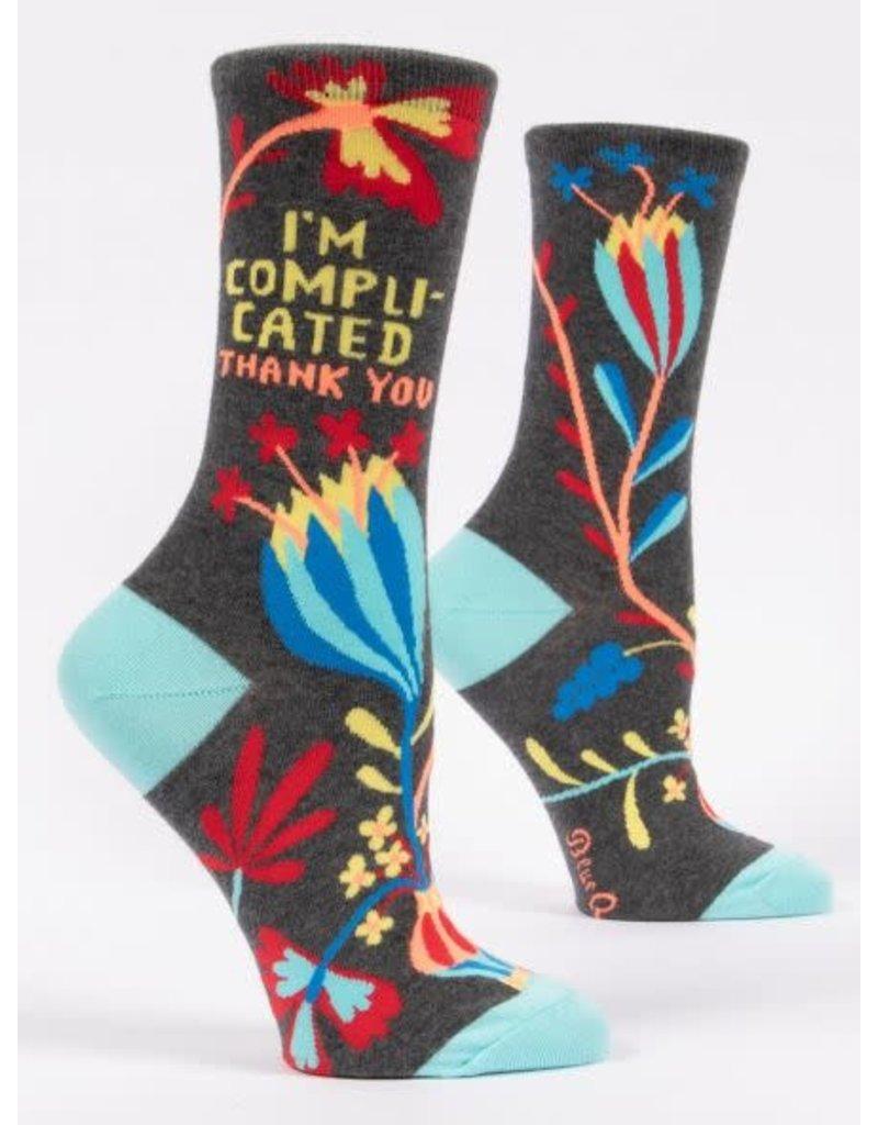 Blue Q Blue Q Women's Crew Socks I'm Complicated