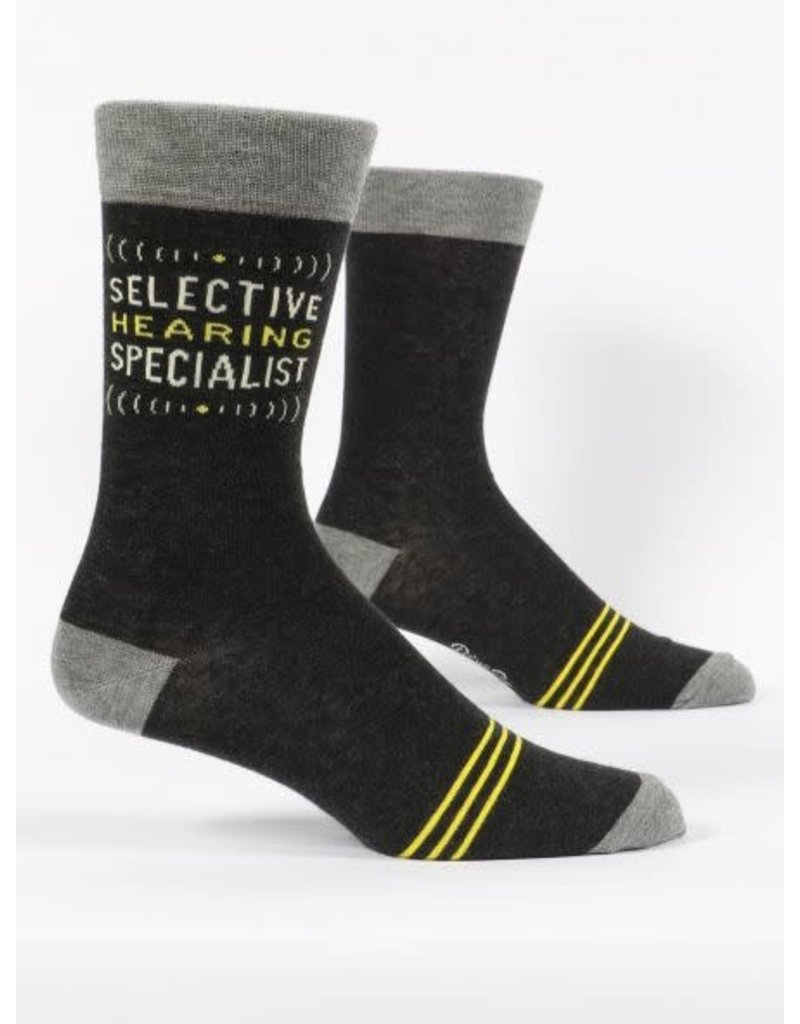 Blue Q Blue Q Men's Crew Socks Selective Hearing