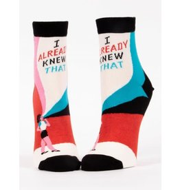 Blue Q Blue Q Women's Ankle Socks I Already Knew That