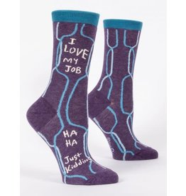 Blue Q Blue Q Women's Crew Socks I Love My Job
