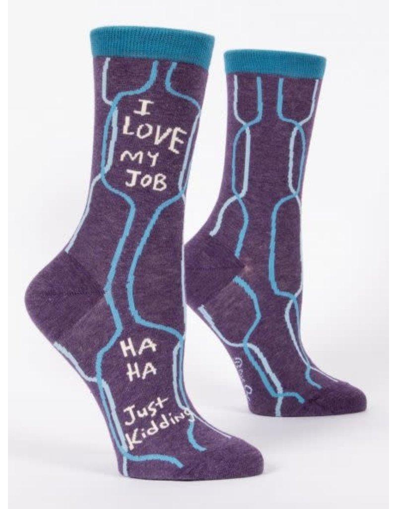 Blue Q Blue Q Women's Crew Socks I Love My Job