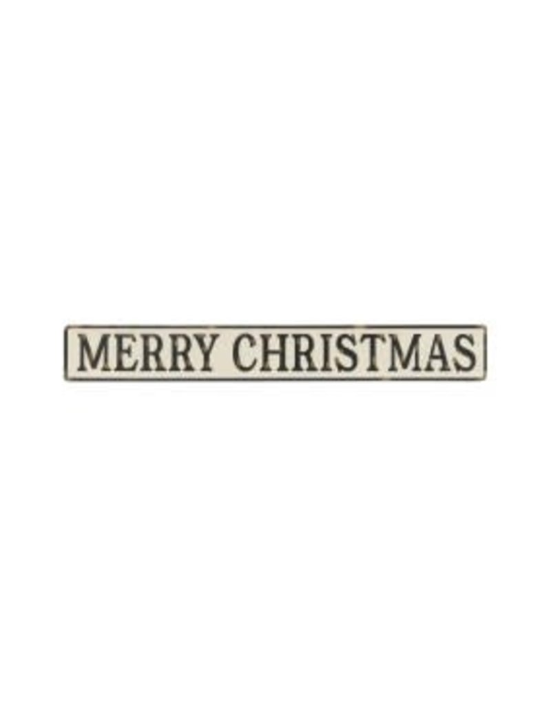 Holiday Embossed Sign Merry Christmas